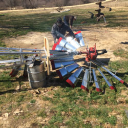 Windmill Being Assembled